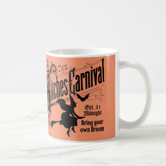 Witches Carnival for Halloween Basic White Mug