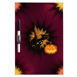 Witches Cat Dry Erase Board