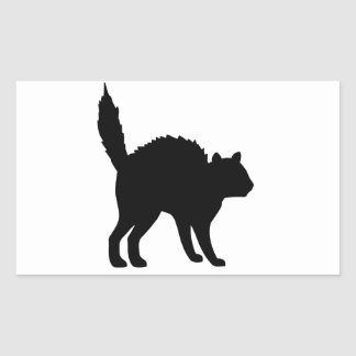 Witches Cat Rectangular Sticker