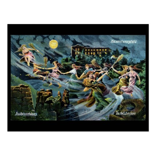 Witches Dance Walpurgis Night postcard