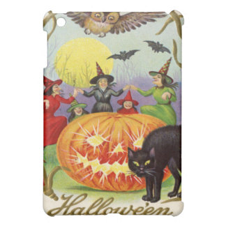 Witches Dancing Around Jack O' Lantern iPad Mini Case