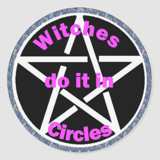 witches do it in circles round sticker