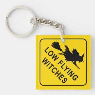 Witches Double-Sided Square Acrylic Key Ring