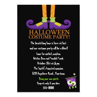 Witches Feet Halloween Costume Party 13 Cm X 18 Cm Invitation Card