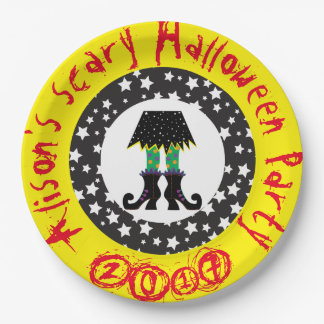 Witches Feet Halloween Party Paper Plate