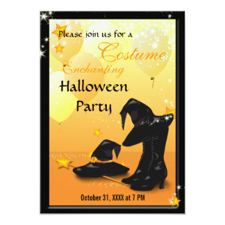 Witches Halloween Enchanting Witch Invitation 2
