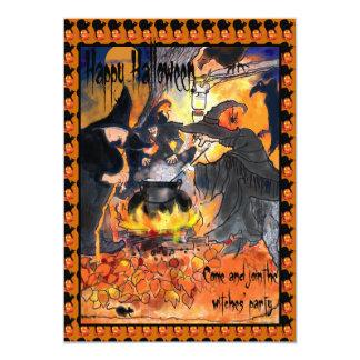 Witches Halloween Party Invitation original art
