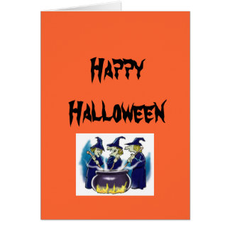 witches, Happy Halloween Card