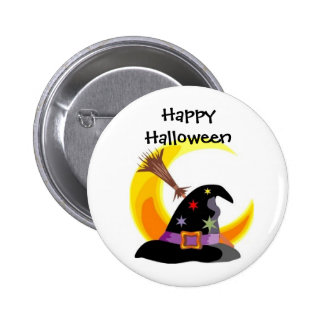 Witches Hat Happy Halloween Pin