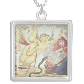 Witches in a Hayloft Silver Plated Necklace