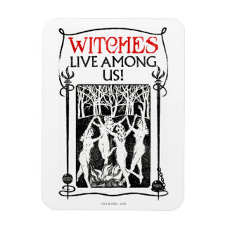Witches Live Among Us Magnet