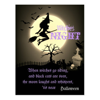 Witches Night, Halloween Postcard
