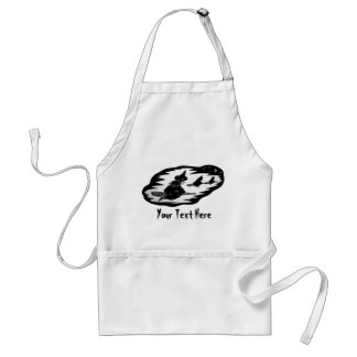 witches on broomsticks night sky halloween standard apron