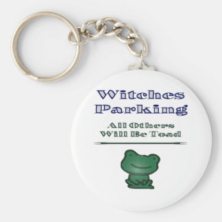 Witches Parking Key Ring