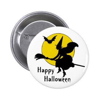 Witches Ride Happy Halloween 6 Cm Round Badge