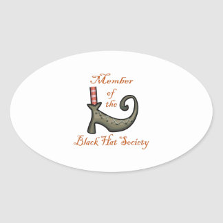 Witches Shoe Oval Sticker