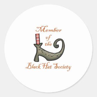 Witches Shoe Round Sticker