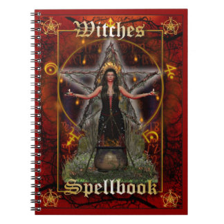 Witches Spellbook - Fire Element (Red Cover) Notebook
