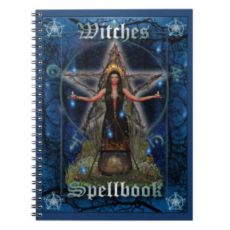 Witches Spellbook - Water Element (Blue Cover) Spiral Notebook