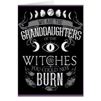 Witches Wiccan Greeting Card Pagan