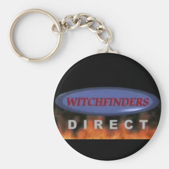 Witchfinders direct basic round button key ring