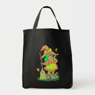 """Witchie Kins"" Chubby Witch Bag Grocery Tote Bag"