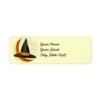 Witching Hour Witch Return Address Label