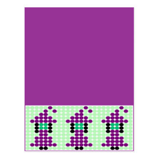 Witchipoo Beaded Pattern Motif Postcard