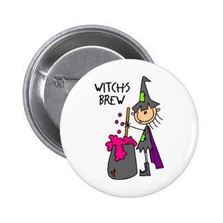 Witch's Brew Halloween Button