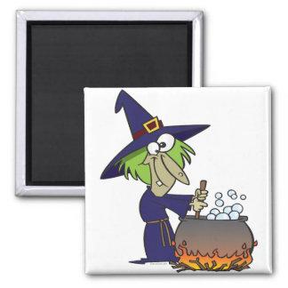 witchs brew halloween cartoon refrigerator magnet