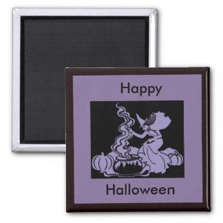 Witch's Brew Halloween Design Refrigerator Magnet