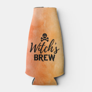 Witch's Brew Poison Skull Crossbones Halloween Bottle Cooler