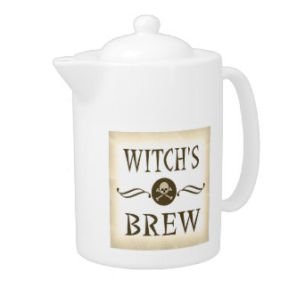 Witch's Brew Vintage Halloween Warning Label