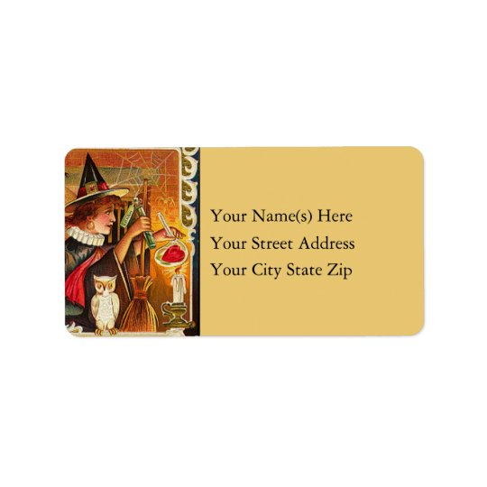 Witch's Halloween Love Potion Address Label