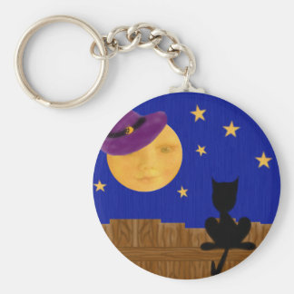 Witch's Moon Basic Button Keychain