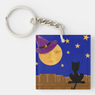 Witch's Moon Square Acrylic Keychain