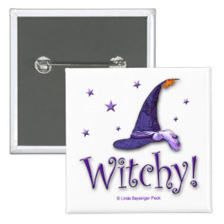 Witchy 15 Cm Square Badge
