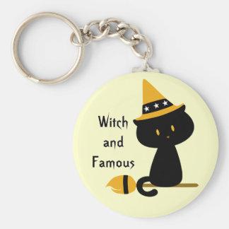 Witchy Cat Keychain