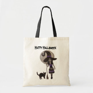 Witchy Dreams Halloween - Budget Tote Bag