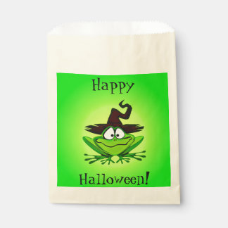 Witchy Frog Green Favour Bags