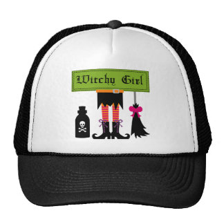 Witchy Girl Halloween T-shirts and Gifts Hat