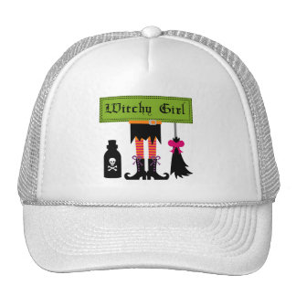 Witchy Girl Halloween T-shirts and Gifts Hats