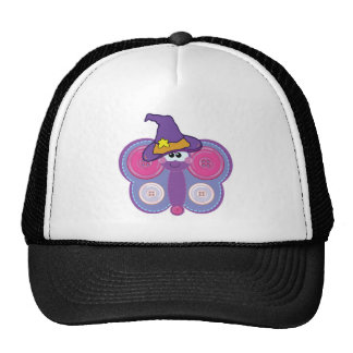 witchy goofkins button butterfly mesh hat