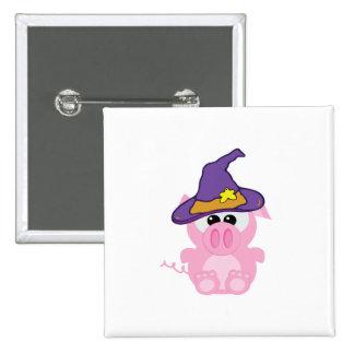 witchy goofkins piggy pig 15 cm square badge