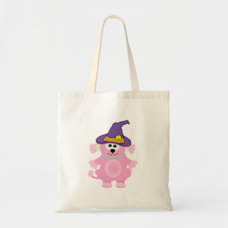 witchy goofkins pink poodle tote bag