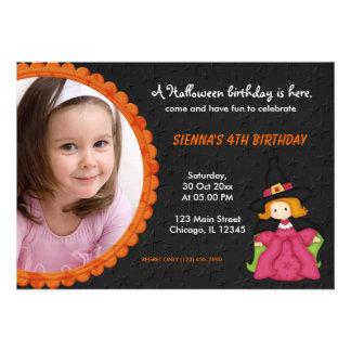 Witchy Halloween Birthday Custom Invite
