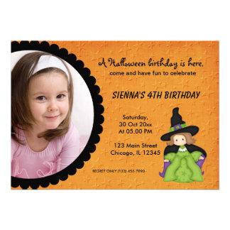 Witchy Halloween Birthday Invitation
