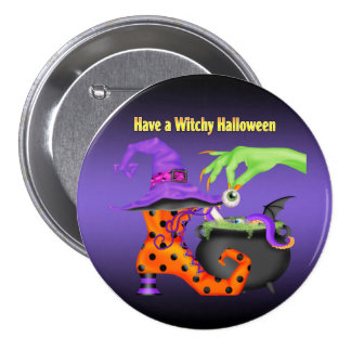 Witchy Halloween Button