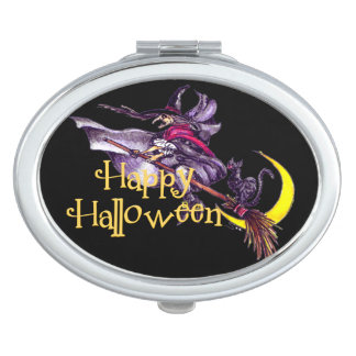 Witchy Halloween Compact Mirror