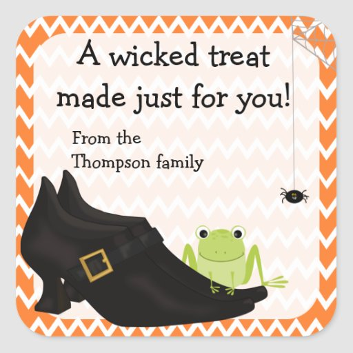 Witchy Halloween Treat Stickers